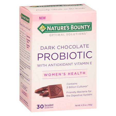 Nature's Bounty Optimal Solutions Probiotic 2 Billion Cultures Pieces Chocolate - 30 ea