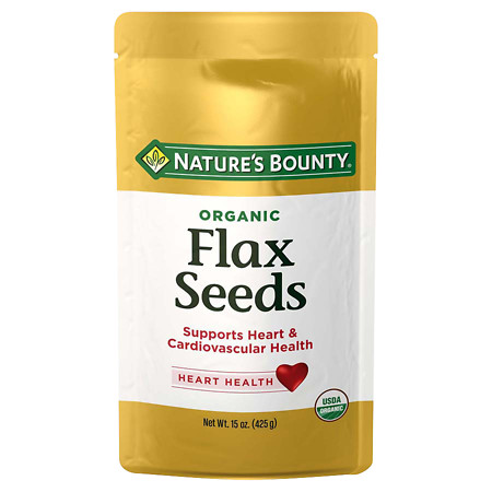Nature's Bounty Organic Flax Seeds Cold Milled - 15 oz.