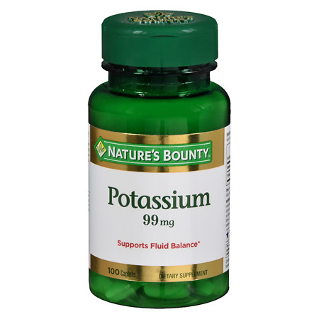 Nature's Bounty Potassium Gluconate 99mg, Caplets - 100 ea