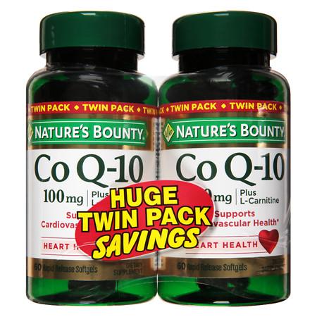 Nature's Bounty Q-Sorb CoQ10 100 mg Dietary Supplement Softgels Twinpack - 60 ea
