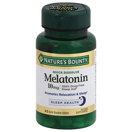 Nature's Bounty Quick Dissolve Melatonin 10mg Tablets - 45 ea