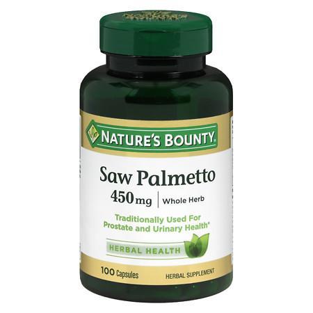 Nature's Bounty Saw Palmetto, 450mg, Capsules - 100 ea