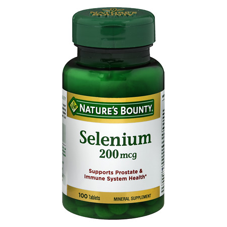 Nature's Bounty Selenium, 200 mcg Tablets. - 100 ea