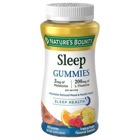 Nature's Bounty Sleep Complex 3 mg Melatonin200 mg Gummies Punch - 60 ea