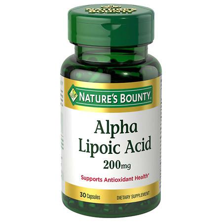 Nature's Bounty Super Alpha Lipoic Acid 200 mg Dietary Supplement Capsules - 30 ea