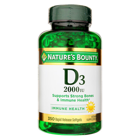 Nature's Bounty Super Strength D3 - 2000iu - 350 ea