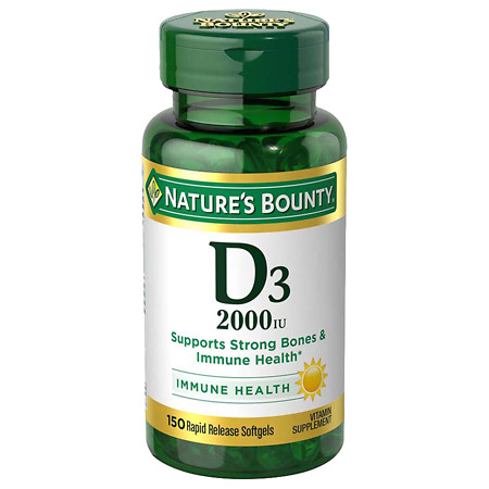 Nature's Bounty Super Strength Vitamin D3 2000 IU Dietary Supplement Softgels - 150 ea