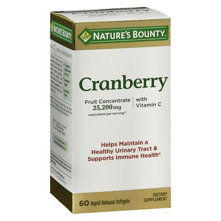 Nature's Bounty Triple Strength Natural Cranberry Softgels - 60 ea