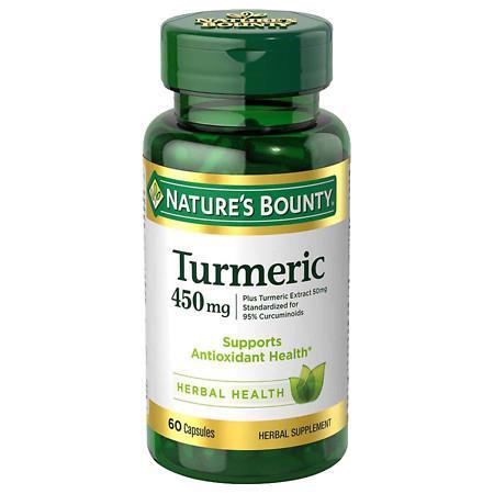 Nature's Bounty Turmeric Capsules - 60 ea