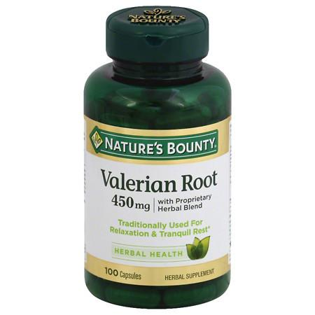 Nature's Bounty Valerian Root 450 mg Plus Calming Blend Dietary Supplement Capsules - 100 ea