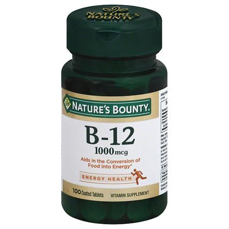 Nature's Bounty Vitamin B-12, 1000mcg, Tablets - 100 ea