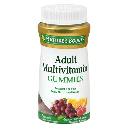 Nature's Bounty Your Life Multi Adult Gummies Multivitamin Supplement Orange, Cherry & Grape - 75 ea