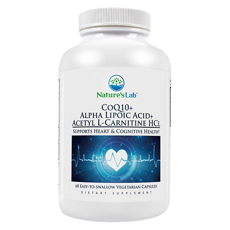 Nature's Lab CoQ10, Alpha-Lipoic-Acid, Acetyl L-Carnitine HCl, Vegetarian Capsules - 60 ea