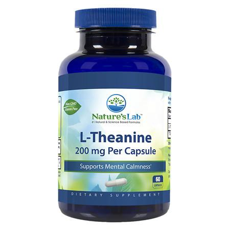 Nature's Lab L-Theanine, 200mg - 60 ea