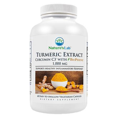 Nature's Lab Turmeric Extract Curcumin C3 with BioPerine, Capsules - 60 ea