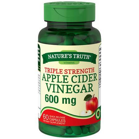 Nature's Truth Apple Cider Vinegar 600mg, Capsules - 60 ea