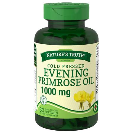 Nature's Truth Cold Pressed Evening Primrose Oil 1000mg - 60 ea