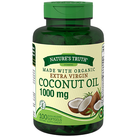 Nature's Truth Extra Virgin Coconut Oil 1,000mg - 100 ea