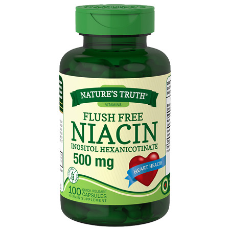 Nature's Truth Flush Free Niacin Inositol Hexanicotinate 500mg - 100 ea
