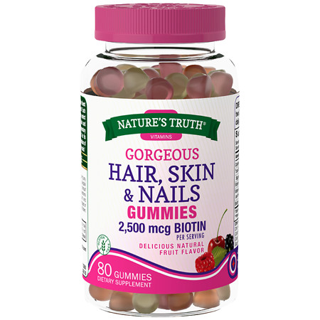 Nature's Truth Hair, Skin, Nails Gummies Natural Fruit - 80 ea