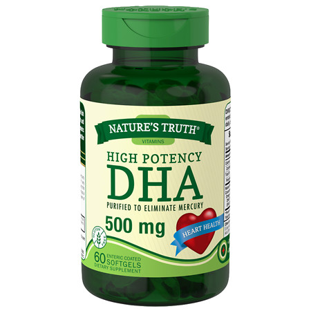 Nature's Truth High Potency DHA 500mg - 60 ea