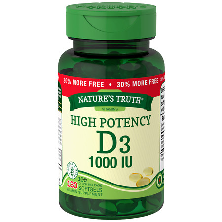 Nature's Truth High Potency Vitamin D3 1000 IU - 130 ea