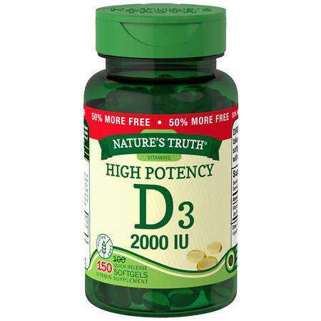 Nature's Truth High Potency Vitamin D3 2000 IU - 150 ea