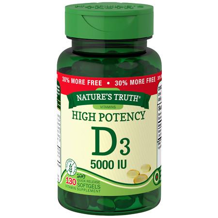 Nature's Truth High Potency Vitamin D3 5000 IU - 130 ea