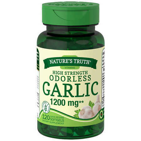Nature's Truth High Strength Odorless Garlic 1200mg - 120 ea