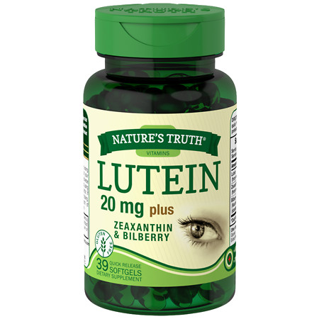 Nature's Truth Lutein 20mg Plus Zeaxanthin & Bilberry - 39 ea