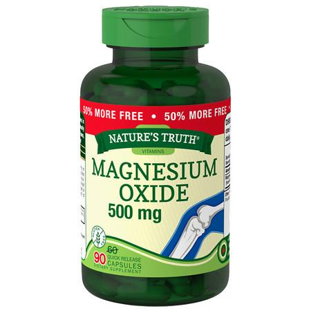 Nature's Truth Magnesium Oxide 500mg - 90 ea