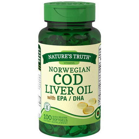 Nature's Truth Norwegian Cod Liver Oil with EPADHA - 100 ea
