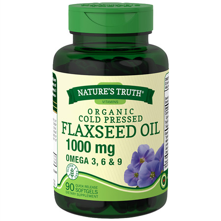 Nature's Truth Organic Cold Pressed Flaxseed Oil 1000mg - 90 ea