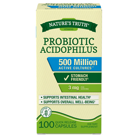 Nature's Truth Probiotic Acidophilus 4mg 500 Million - 100 ea