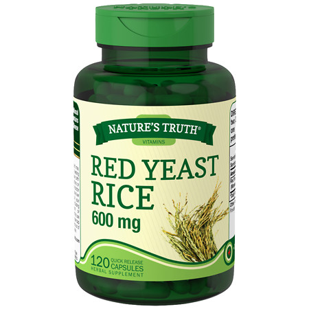 Nature's Truth Red Yeast Rice 600mg - 120 ea