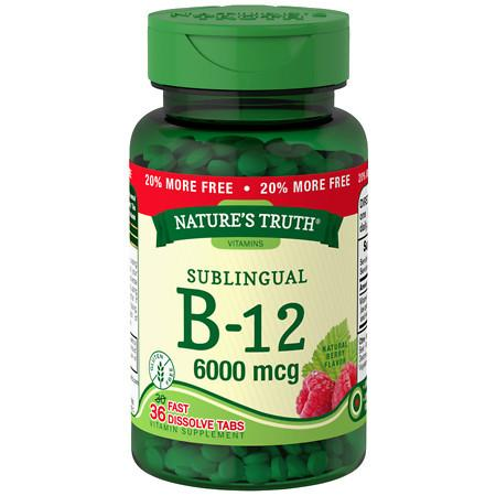 Nature's Truth Sublingual B-12 6000mcg Berry - 36 ea