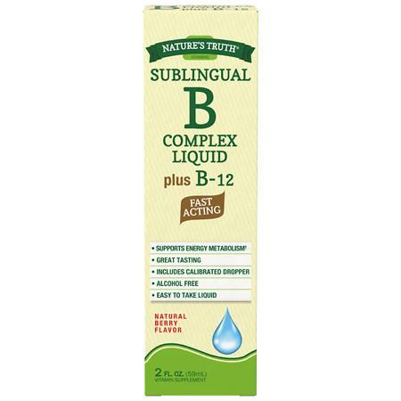 Nature's Truth Sublingual B Complex Liquid Plus B-12 Berry - 2 oz.