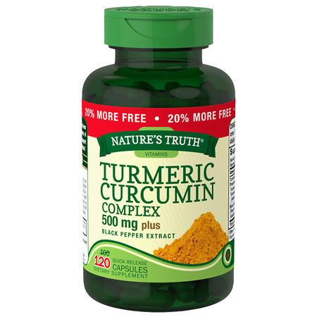 Nature's Truth Turmeric Curcumin Complex 500mg Plus Black Pepper Extract - 120 ea