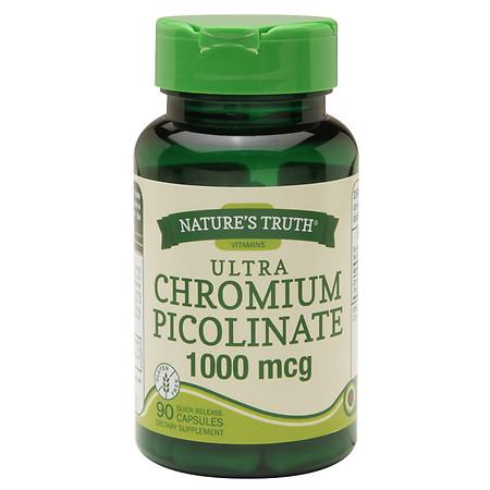Nature's Truth Ultra Chromium Picolinate 1000mcg, Capsules - 90 ea