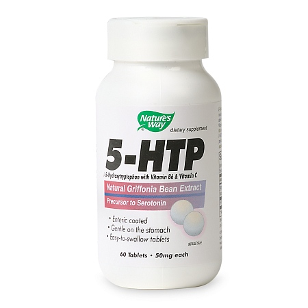 Nature's Way 5-HTP 50 mg Dietary Supplement Tablets - 60 ea