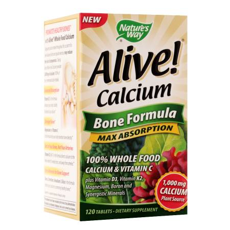 Nature's Way Alive! Calcium Bone Formula, Tablets - 120 ea