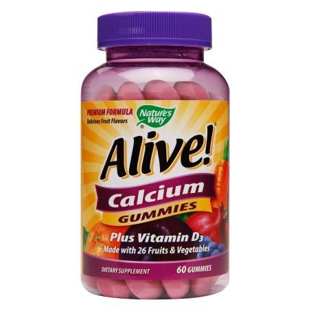 Nature's Way Alive! Calcium Plus Vitamin D3 Gummies - 60 ea