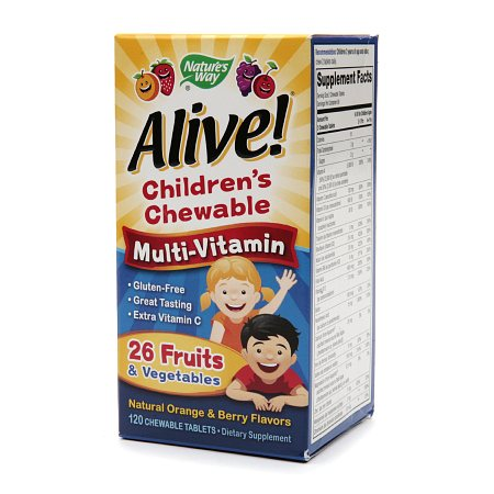 Nature's Way Alive! Children's Multivitamin Chewables - 120 ea