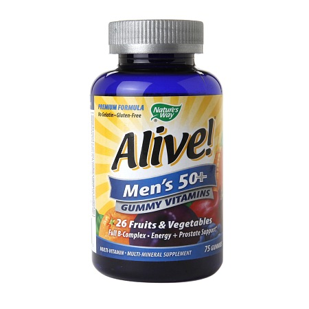 Nature's Way Alive! Men's 50+ Gummy Multivitamin - 75 ea