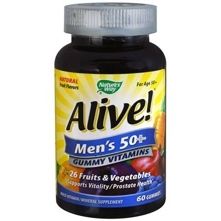 Nature's Way Alive! Men's 50+ Multi-Vitamin Gummies Fruit - 60 ea