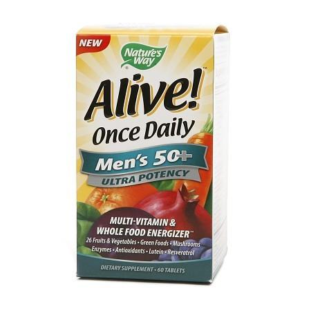 Nature's Way Alive! Once Daily Multivitamin & Whole Food Energizer Dietary Supplement Tablet - 60 ea