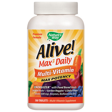Nature's Way Alive! Whole Food Energizer Multivitamin, Tablets - 180 ea