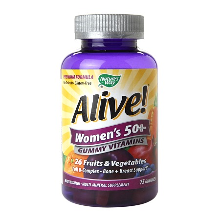 Nature's Way Alive! Women's 50+ Gummy Multivitamin - 75 ea