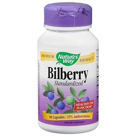 Nature's Way Bilberry Standardized Capsules - 90 ea