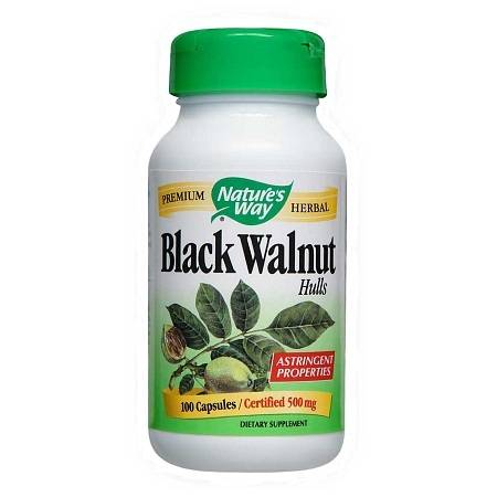Nature's Way Black Walnut Hulls, Capsules - 100 ea